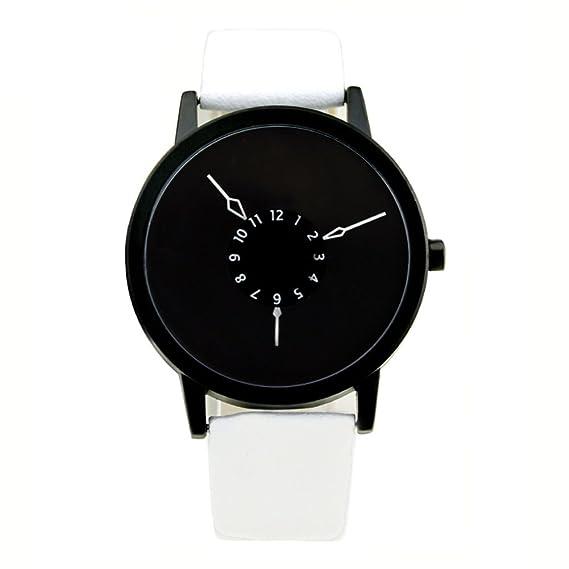 segunda mano de subversión y creativo reloj/Puntero tejido de acero único ángulo invertido de correa de reloj-E: Amazon.es: Relojes