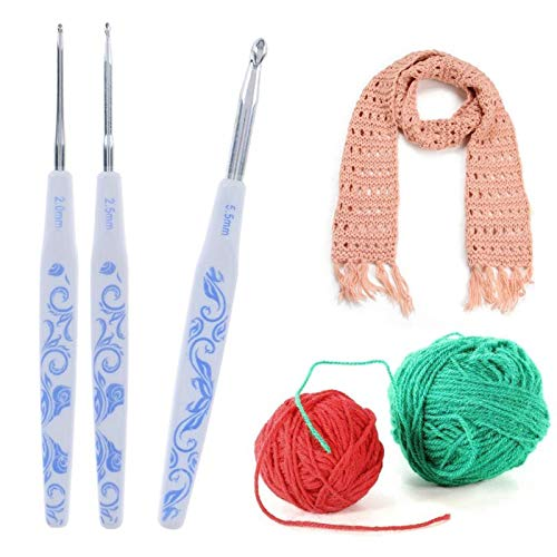 Curved Knitting Needles with New Design, 9pcs 2 6mm Crochet Hooks Kit DIY Scarf Knitting Needle Sweater Weave – Knitting Needle Protector, Scarf Knitting Loom, Knitting Loom Machine, Knitting Loom