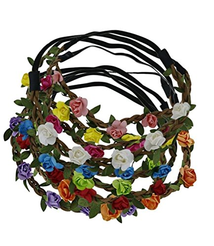 Kedera 9pcs Baby Girl Head Wreath Bohemian Flower Crown for sale  Delivered anywhere in USA