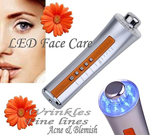 Face Care 3 in 1 LED Skin Care Device Remove Wrinkles Acne & Blackheads LED Silver-Massages By Haleness Pro ! by Haleness Pro