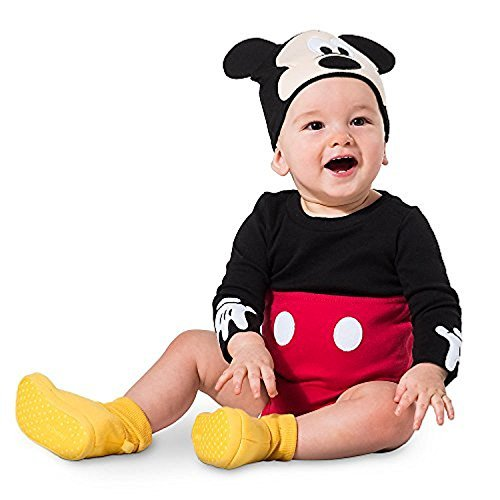 Disney Mickey Mouse Costume Bodysuit Set for Baby Size 12-18 MO Red -