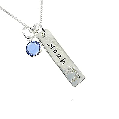 34847c86c80f1 Amazon.com: Custom4U Sterling Silver Personalized Name Necklace with ...