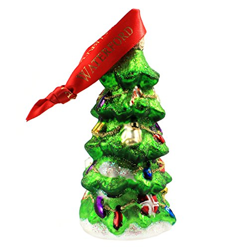 (Waterford Holiday Heirlooms Decorated Christmas Tree Ornament with Glitter #153721)