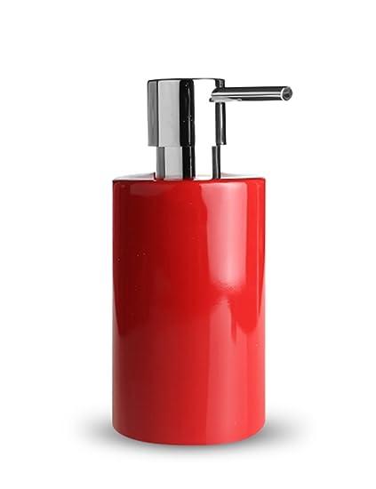 Dispensador de jabón Cerámica Brillante Prensa Shampoo Jabón de manos Gel de ducha Empaquetado Jabón Dispensador