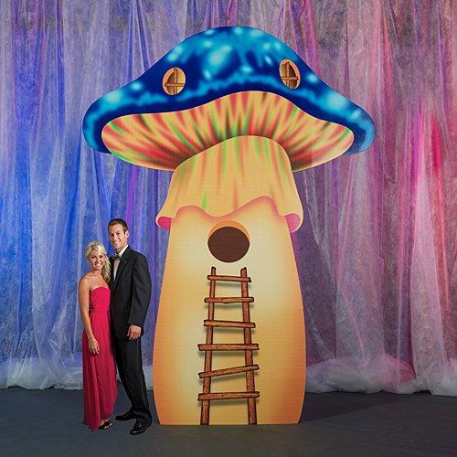 12 ft. 3 in. Electric Carnival Mushroom Standee