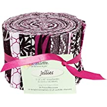 Fabric Editions 2.5 by 42-Inch Jellies Fabric Palette, 20-Pack, City