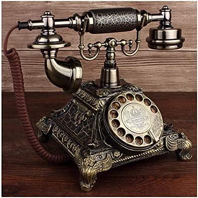 SMC Tocadiscos de Bronce Europeo Rotativo Creativo Teléfono ...