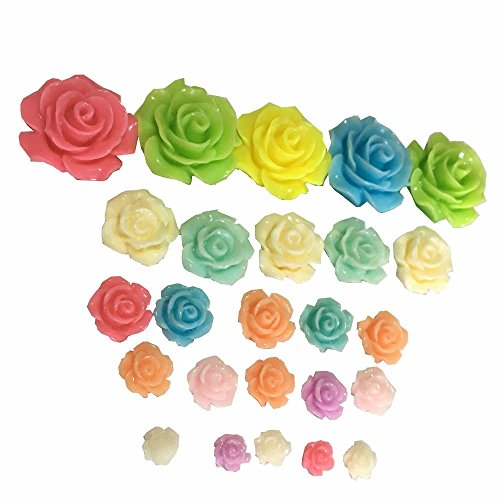 TATEELY 25 Pcs Camellia Rose Flower Miniature Fairy Garden Home Houses Decoration Mini Craft Micro Landscaping Decor DIY Accessories