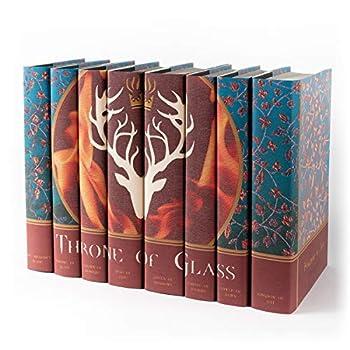 Image of Juniper Books Throne of Glass | Eight - Volume Hardcover Book Set with Custom Designed Dust Jackets | Author Sarah J. Mass Bookshelf Albums