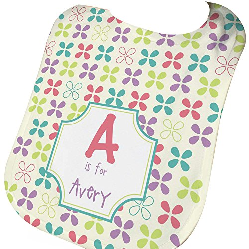 GiftsForYouNow Name and Initial Baby Girl Personalized Bib (Bib Baby Initial)