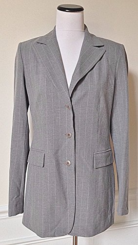 Laundry by Shelli Segal NWT Gray Pinstripe Classic Suit Jacket Blazer 10 $270