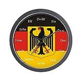 CafePress – German Flag – Unique Decorative 10″ Wall Clock For Sale