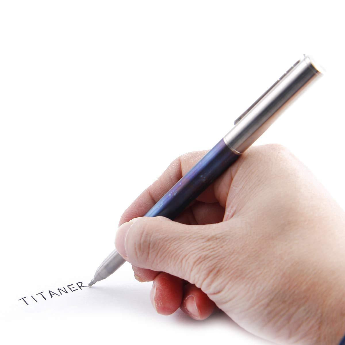 TITANER Icebreaker Titanium Lotus Tactical Pen Emergency Bolt Pen with Window Breaker(Blue) by TITANER (Image #2)