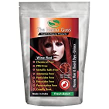 Wine Red Henna Hair & Beard Dye / Color - 1 Pack - The Henna Guys