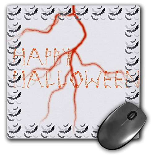 - 3dRose PS Halloween - Halloween Skeletons and Bats - Spooky Fun Art - MousePad (mp_59882_1)