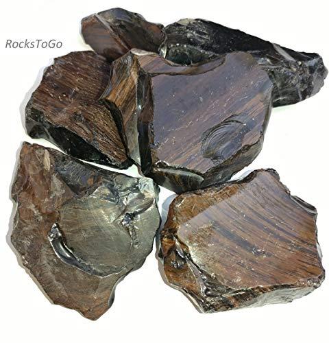 - Rocks To Go Mahogany Obsidian Tumbled Stones 1/2 lb Flat- 3-4