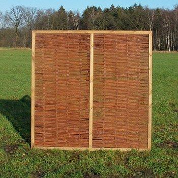 Weidenzaun / Flechtzaun 'Nomic' als Sichtschutz und Windschutz - Sichtschutzzaun 1 Stück, 90 x 180 cm