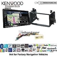 Volunteer Audio Kenwood DNX574S Double Din Radio Install Kit with GPS Navigation Apple CarPlay Android Auto Fits 2007-2009 Hyundai Entourage, 2006-2008 Kia Optima