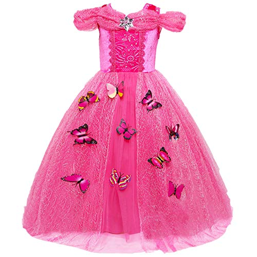 Sleeping Beauty Princess Aurora Party Girls Costume -