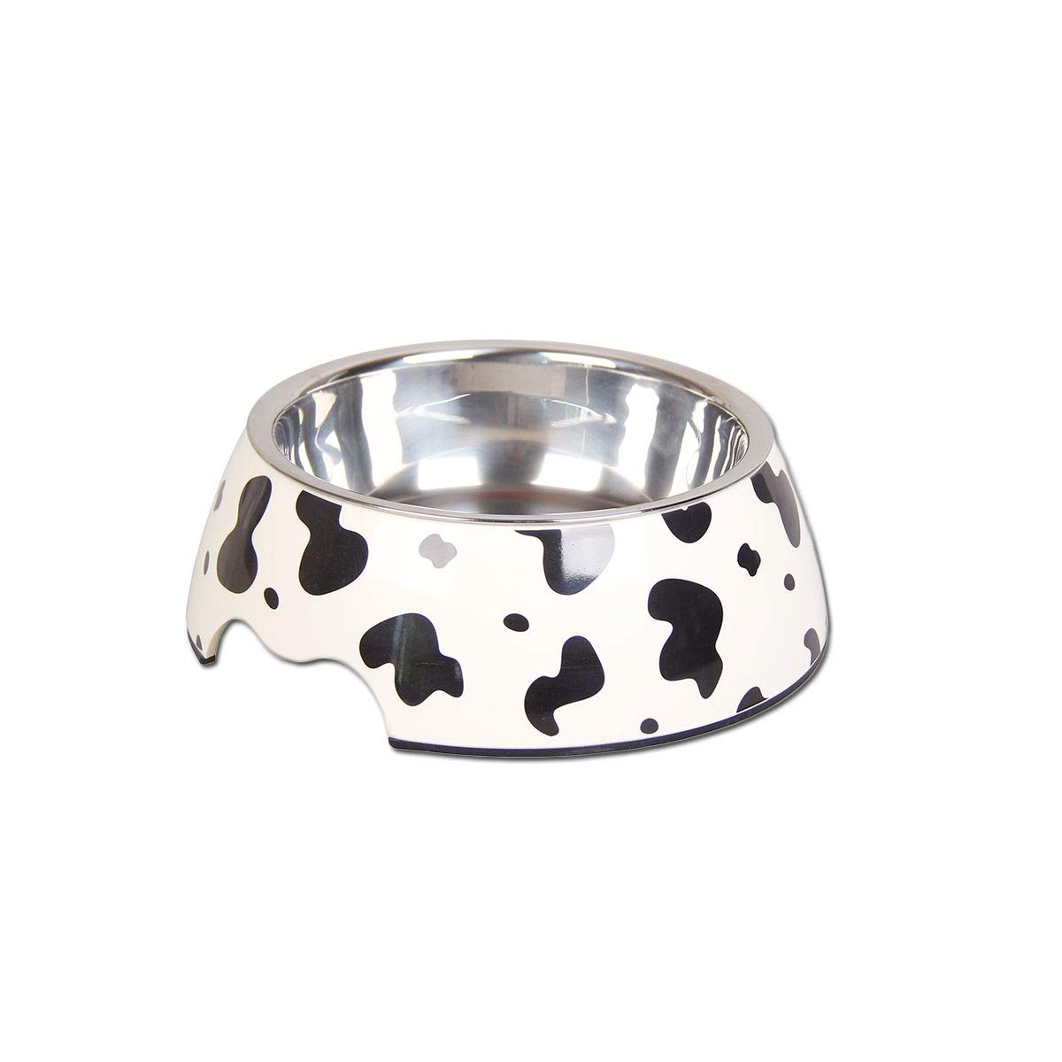 Cow L Cow L XIAN Dog Bowl Cat Bowl Double Bowl Stainless Steel Pet Supplies Cow, Gypsophila, Giraffe S M L. Easy to Clean Bacteria & Rust Resistant (color   Cow, Size   L)