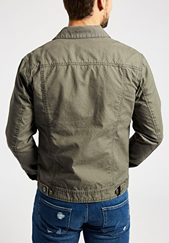 Verde Lunghe Basic Giacca Khujo Camicia Uomo Scuro Maniche z4qwpxYFWS