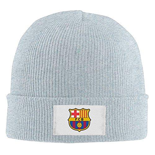 Futbol Club Barcelona Unisex Funny Ash Wool Winter Toboggan Cap One Size ()
