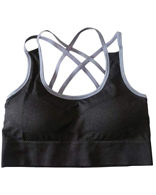 Mujer Sujetador Deportivo Push Up Fitness Yoga Camisetas Sin Mangas: Amazon.es: Ropa y accesorios
