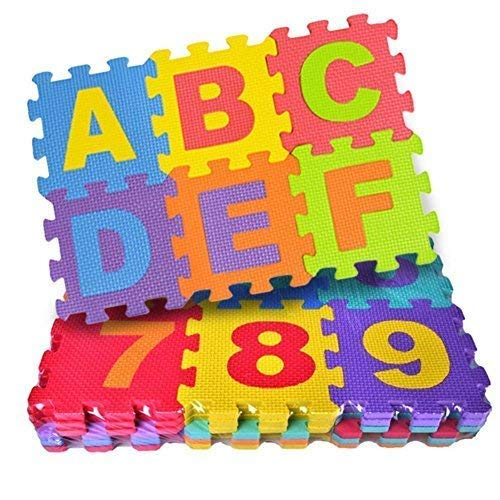 FunBlast 36 Pieces Mini Puzzle Foam Mat for Kids