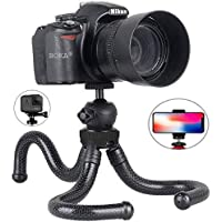 BOKA 10 Inch Gorillapod Tripod with 360 degree Rotating Ball Head with Mobile Holder for All DSLR Cameras and Phones (Black)