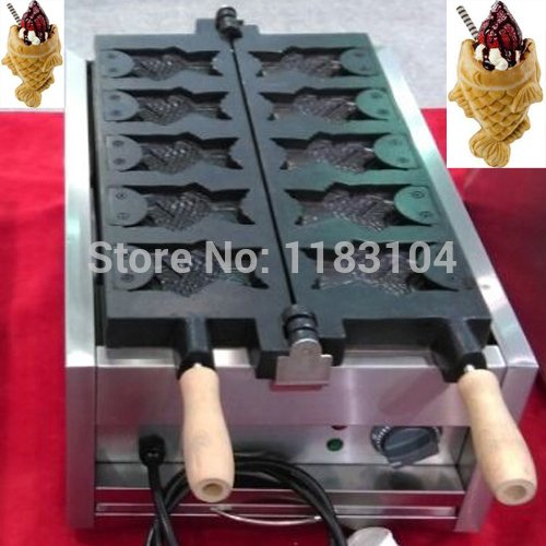 Free Shipping to Indonesia/Malaysia/Singapore/Thailand/Philippines/Vietnam Big Mouth Ice Cream Taiyaki Maker Machine by ANGELGARDEN