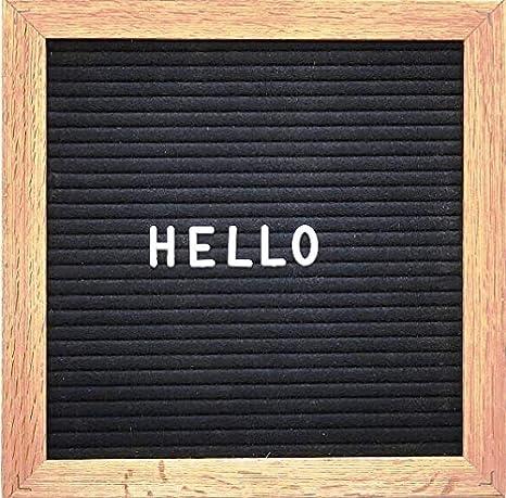Amazon.com: Letrero de fieltro gris 340 letras blancas ...