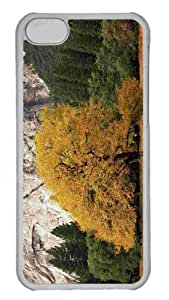 Customized iphone 5C PC Transparent Case - Yosemite National Park California Fall Personalized Cover