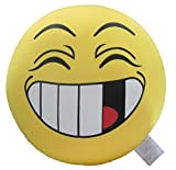 Cute Squishy Face Microbead Pillow - Tache Have a nice Day - Yellow Smiley Crazy Face Throw Lounge Toss Pillow Fight Cushion