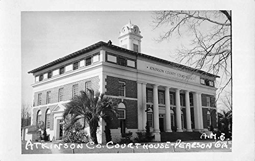 - Pearson Georgia Atkinson Court House Real Photo Antique Postcard K69633