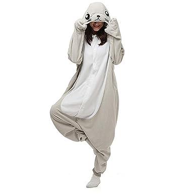 1041ed55fe DASENLIN Pijama Cosplay con Unisex Ropa para Mujer Mono Gris del Sello del  León De Mar