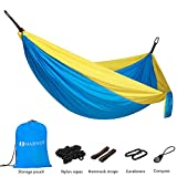 MARNUR Camping Hammock Parachute - Portable Double Hammock Lightweight with Nylon Hammock Straps and Compass Easy Assembly for Outdoor Camping Backpacking Travel and Home yard