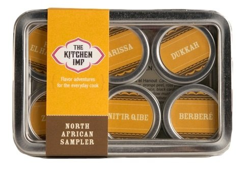 The Kitchen IMP North African Spice Sampler Set With 6 Tins 10grams Each | Ideal For Seasoning & Marinating Meat, Grains, Fish, Veggies & More | Premium Cooking Gift Set