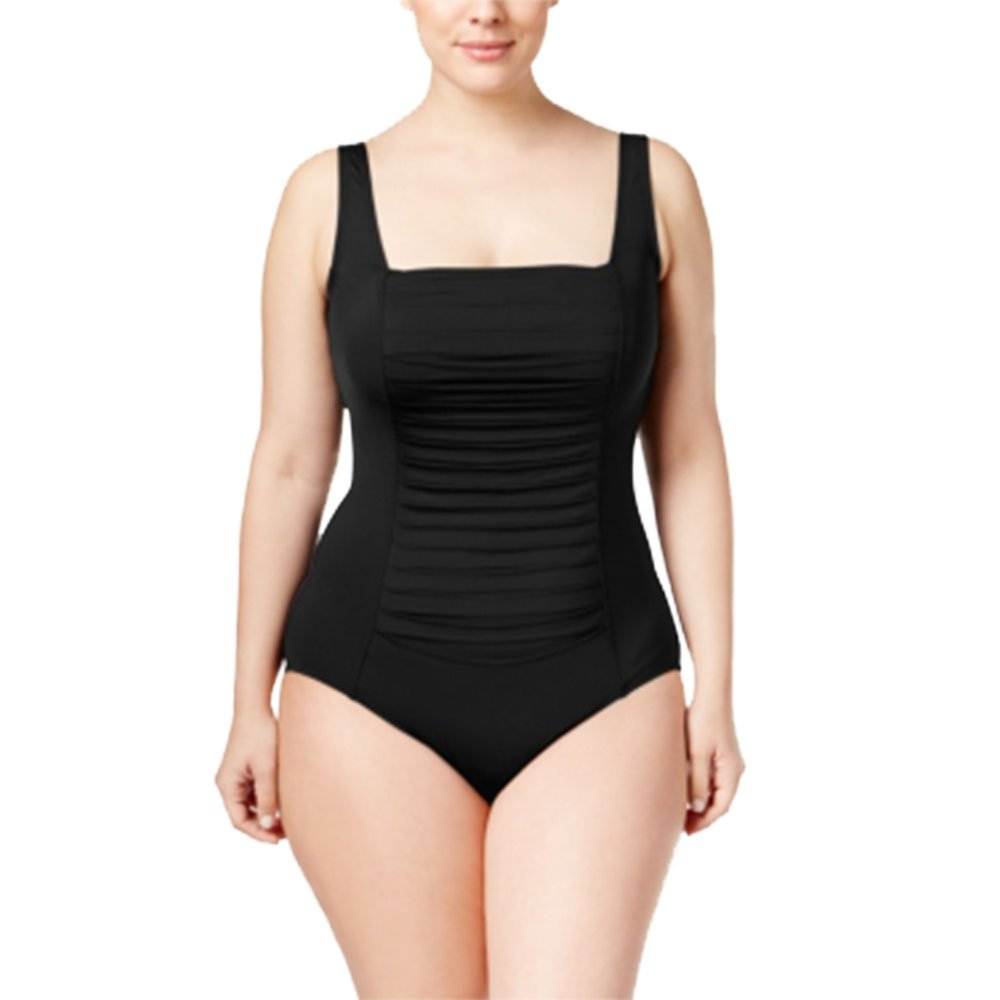 c28822833d Calvin Klein Plus Size Ruched One-Piece Swimsuit