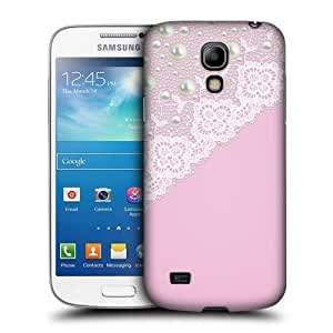 AIYAYA Samsung Case Designs Pink Laces and Pearls Protective Snap-on Hard Back Case Cover for Samsung Galaxy S4 mini I9190 Duos I9192 by icecream design