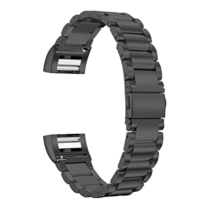 c8e78d6931da3 Oitom Stainless Steel Bands Compatilbe with Fitbit Charge 2,Premium  Stainless Steel SS Metal Replacement Watch Band Strap for Smart Fitness ...