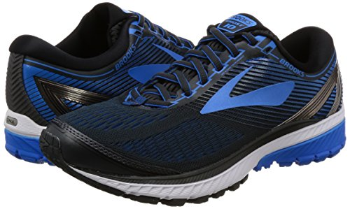 f0da8e9983c Brooks Men s Ghost 10 (2E) Wide Ebony Metallic Charcoal Electric Brooks Blue  Running Shoe 11 2E Men US  Buy Online at Low Prices in India - Amazon.in