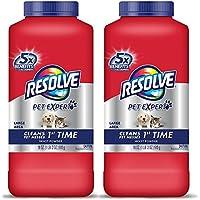 Resolve Pet Carpet Cleaner Powder, For Dirt & Stain Removal, 18 oz Bottle, 2-Pack