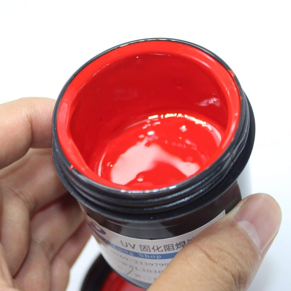 Jammas 5pcs/lot PCB UV photosensitive inks, Green PCB UV curable solder resist ink,solder mask UV ink Black White Red Green Blue - (Color: 5 colors in 1 pack)