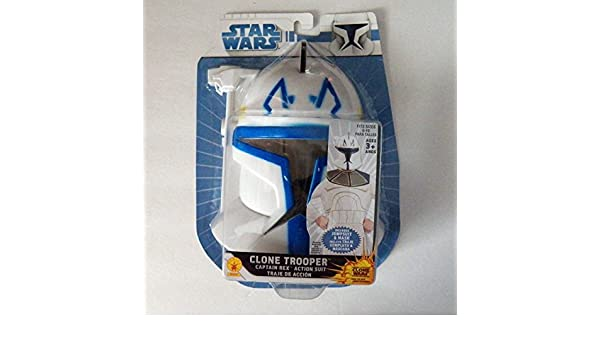 Amazon.com: Star Wars Clone Trooper Captain Rex Jumpsuite and Mask Size 8-10: Clothing
