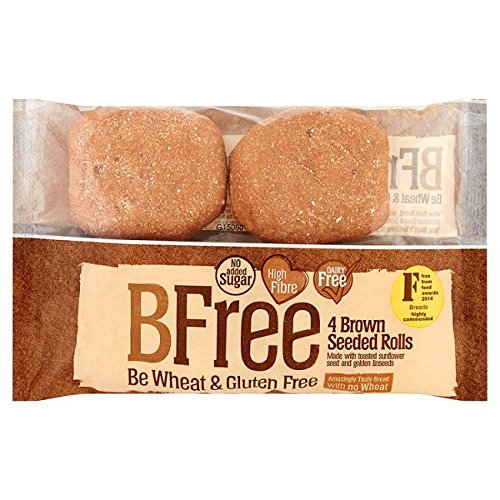 BFree Gluten Free rolls, Seeded Brown, Vegan, Soy Free, Egg Free, Nut Free, Dairy Free, Kosher 8.47 Ounce (Pack of 3)