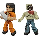 Diamond Select Toys The Walking Dead Minimates: Series 4 Prison Lori and Shoulder Zombie Action Figure