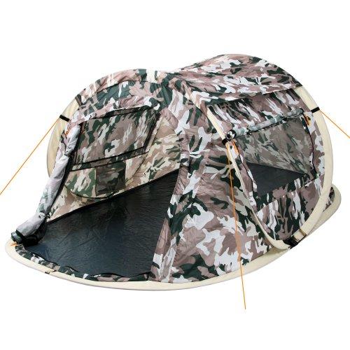 CampFeuer Wurfzelt Quiki I 2 Personen Quicktent I Campingzelt für Festival und mehr I wasserabweisend I Pop-Up Zelt