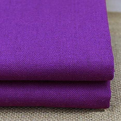 Maslin Meter - Falda de tela de lino y algodón, color violeta ...