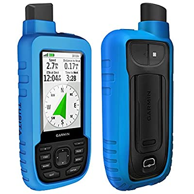 TUSITA Case for Garmin GPSMAP 66s 66st - Silicone Protective Cover - Handheld GPS Accessories (Blue): GPS & Navigation