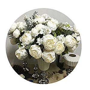 Sevem-D New Simulation Peony Bunch Artificial Flowers for Home Table Wedding Decoration Flores Artificiales 68